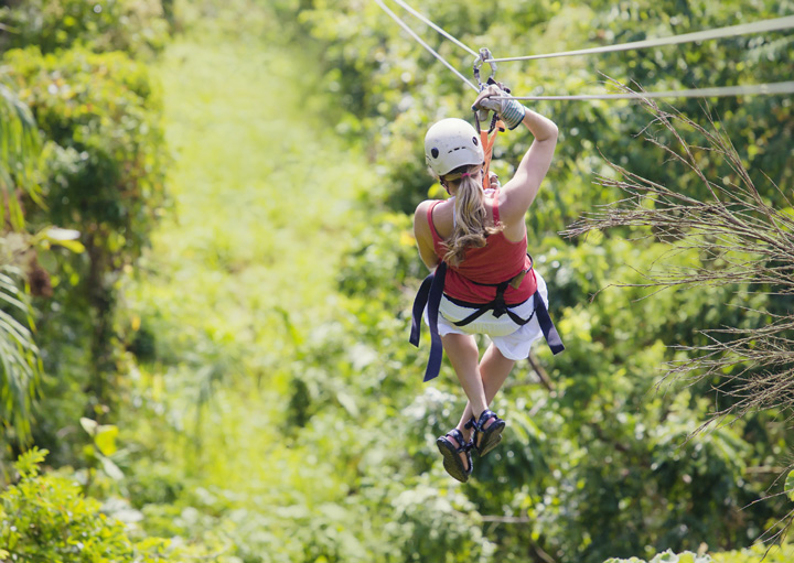 Antigua Rainforest Canopy Adventure from the East Coast